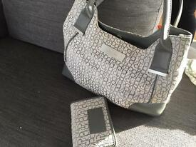 Calvin Klein handbag and purse