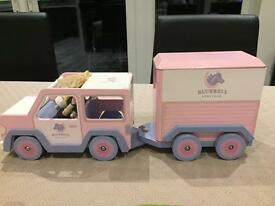 Le toy van bluebell pony club car and horse box wooden