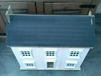 Large wooden dolls house no furniture