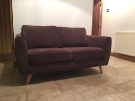 2 seat brown fabric DFS sofa. 18 months old. Perfect condition. Pick up only.
