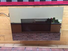 Next Mirrored Wall Mounted Electric Fireplace