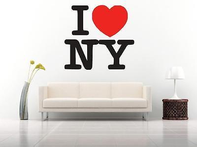 I Love New York heart wall car sticker decal art 6 sizes The Big Apple - I Heart Ny Sticker