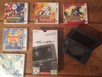 Nintendo 3DS XL Metallic Black and games!