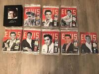 Elvis official collectors edition 1 - 90 magazines with artefacts and posters