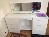 Wardrobe and desk with mirror