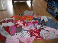 BUNDLE OF BABY GIRL CLOTHES 6-9 MONTHS