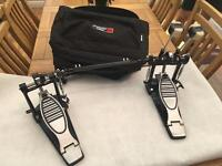 Double bass drum pedal and carry case (brand new)