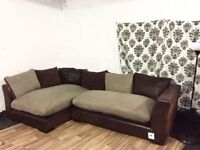 Ex display dfs madison corner sofa**Free delivery**