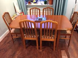 Dining table and 6 chairs - only. serious Purchase offer