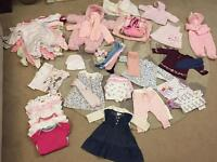 Huge bundle of 0-3 month baby girl clothes. Immaculate condition