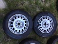 Mini Steel Wheels 4x100 with Continental winter tyres