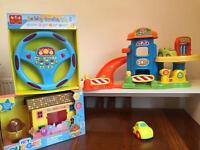 Baby toy joblot garage steering wheel and hey duggee