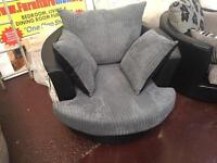Black & grey swivel chair