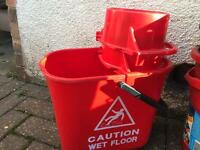 Mop bucket and 2 wringers