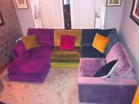 Harlequin Fabric Sofa