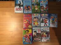 Balamory,Noddy,Tweenies,Hi5,Mr Bean selection of VHS videos