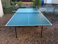 Butterfly full size professional ping pong table. Indoors or out.