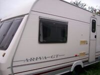 lunar ariva gt 2 berth 2001 full awning small light weight van in top class condition