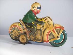 2 TIN MOTORCYCLES ~ WIND UP ~ KEY OPERATED INCLUDING 1 MARX TOYS