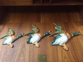 Stunning Set of 3 Vintage Beswick Ducks