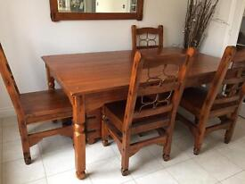 Barker and Stonehouse dining table + 6 chairs