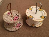 2 x cake stands