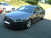 Audi A6 2.0 tdi AUTO S-LINE / LEATHERS / SATNAV / FULL SERVICE / LONG MOT / 2 KEYS / FULL V5 / MINT!