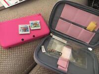 Pink Nintendo 3DS XL - Animal Crossing, Mario Excellent Condition