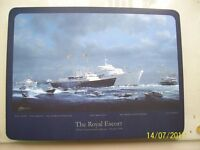 "SET OF 6 PLACE MATS AND 6 MATCHING COASTERS ""THE ROYAL ESCORT"" HMY BRITANNIA"