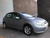 PEUGEOT 307 SE 5 DOOR WITH FULL LEATHER FEBRUARY 2107 MOT