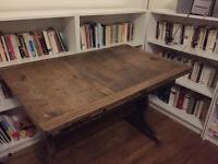 Vintage wooden desk table