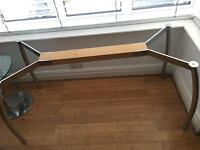 John Lewis Contemporary Glass Table & 6 Chrome Chairs