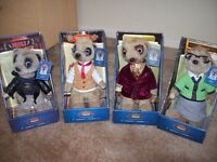 4 X BOXED MEERKAT TOYS WITH CERTIFICATE OF AUTHENTICITY