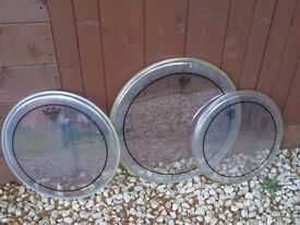 Drums - Set of Remo Pinstripe Drum Heads 16/13/12 - Good Upgrade for Battered Practice Kit !!