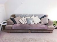 Beautiful dove grey large sofa