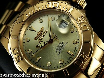 INVICTA Men 40mm Original Pro Diver Swiss ETA 2824-2 Automatic 23KGIP SS Watch