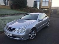 2007//// Mercedes CLK 2.1 cdi diesel 3 doors sports,hpi clear , half leather,drive like new