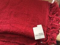 4 m&s red double knit throwovers