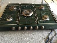 Smeg 5 burner green gas cooker hob *REDUCED*