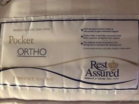 FREE 'Rest Assured' Individual Pocket Sprung Ortho Double Mattress; Quality brand