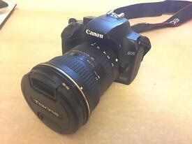 Canon Eos 1000d + Tokina 12-24mm wide angle lens + sunpak flash