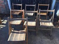 7 x military folding wooden chairs £15 each