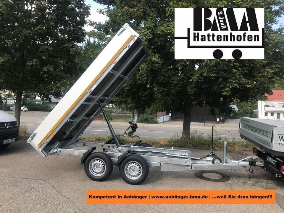 Eduard Rückwärts Kippanhänger 2700kg 310x160x30 H-Pumpe + Aufsatz in Mühlhausen im Täle