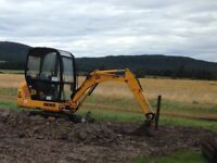 JCB 1.5ton mini digger and operator for hire