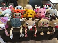 Children crocheted hats (3D) age 1-3yr