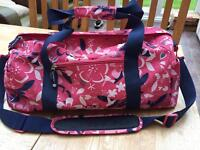 Navy and pink women's hold-all bag