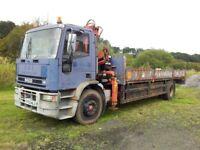 Iveco 170/E18 4x2 dropside HIAB lorry