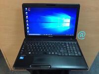 Toshiba Fast HD Laptop, 4GB Ram, 320GB, Genuine Windows 10, Microsoft office, Good Condition