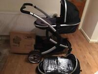 iSafe system double pushchair with car seat and base