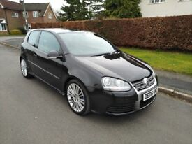IMMACULATE BLACK 2006 VW GOLF R32 MANUAL 3 DOOR LOW MILEAGE 94K FSH FULLY LOADED WINGBACK SEATS